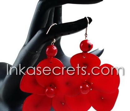10 Flower Tagua earrings