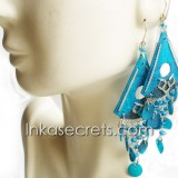 06 Colorful Paiche Fish Scales Earrings