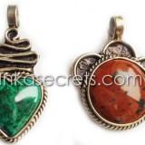 08 Stone Semi-Precious Pendants