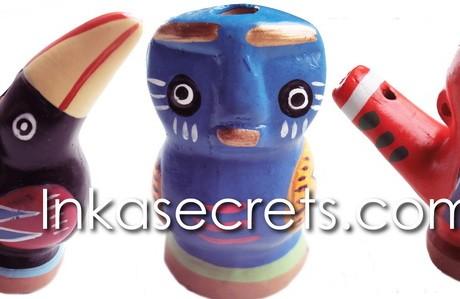 50 Peruvian birds ceramic whistles
