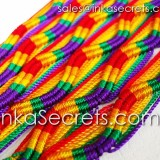 500 Rainbow Friendship Bracelets