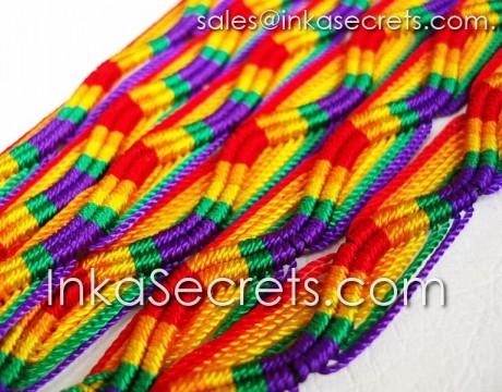 500 Rainbow Friendship Bracelets
