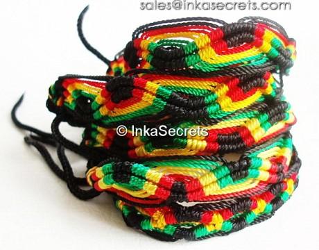 150 Peruvian Classic Rasta Friendship Bracelets