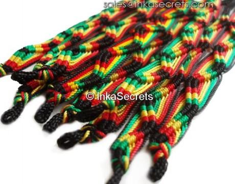 500 Peruvian Classic Rasta Friendship Bracelets