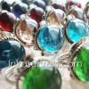 100 Peruvian Gem Glass Rings