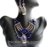 50 Sets alpaca necklaces earrings w/stone