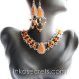 25 Sets alpaca necklaces earrings w/peruvian stone