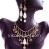 100 Sets bronze necklace & earrings w/stone