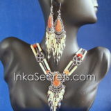 100 Sets of bamboo necklace & earrings