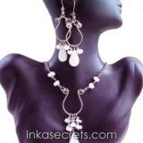 100 Sets alpaca necklaces earrings w/stone